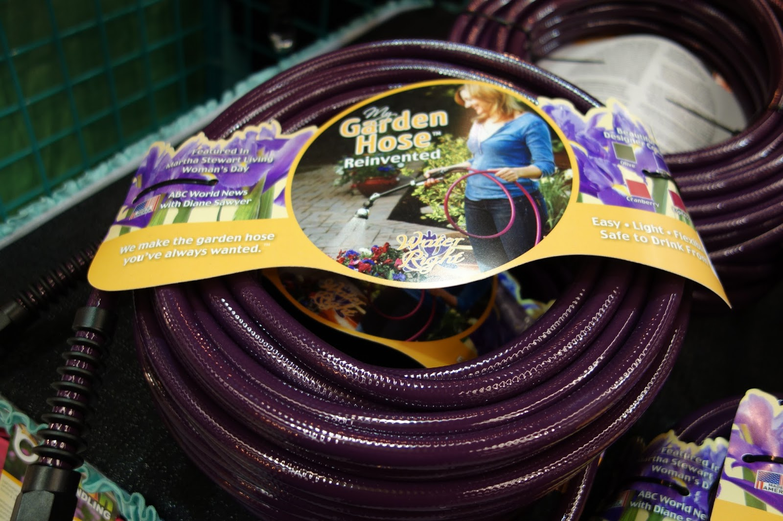 Ordinaire Iu0027m Pretty Sure It Was The Strong Marketing Booth, Where I Saw This  Beautiful Deep Purple Garden Hose By My Garden Hose Reinvented.