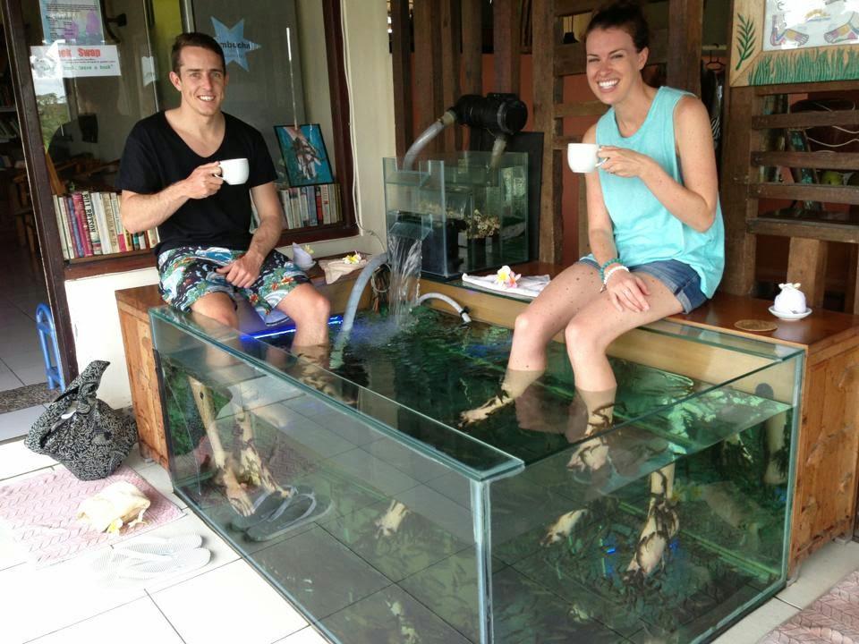 Bali fish spa for Fish foot spa
