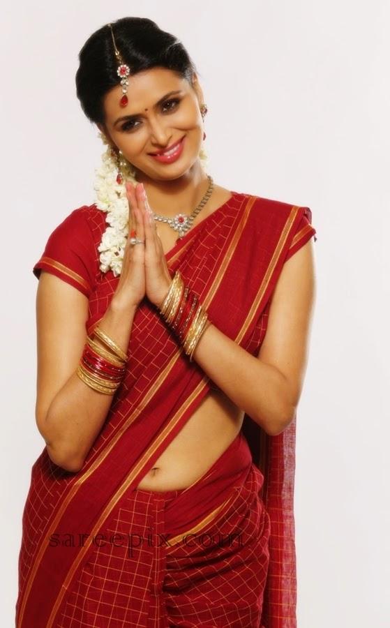 Cute-Meenakshi-dixit-saree-tamil-movie