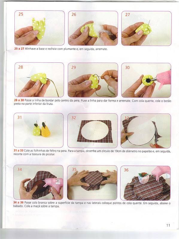 Aparador Que Vira Mesa Comprar ~ Moldes Para Artesanato em Tecido Frutinhas em tecido