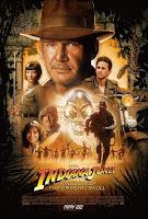 Cartel de la película 'Indiana Jones y el Reino de la Calavera de Cristal', protagonizada por Harrison Ford. Dirigida por Steven Spielberg y producida por George Lucas. Making Of. Cine