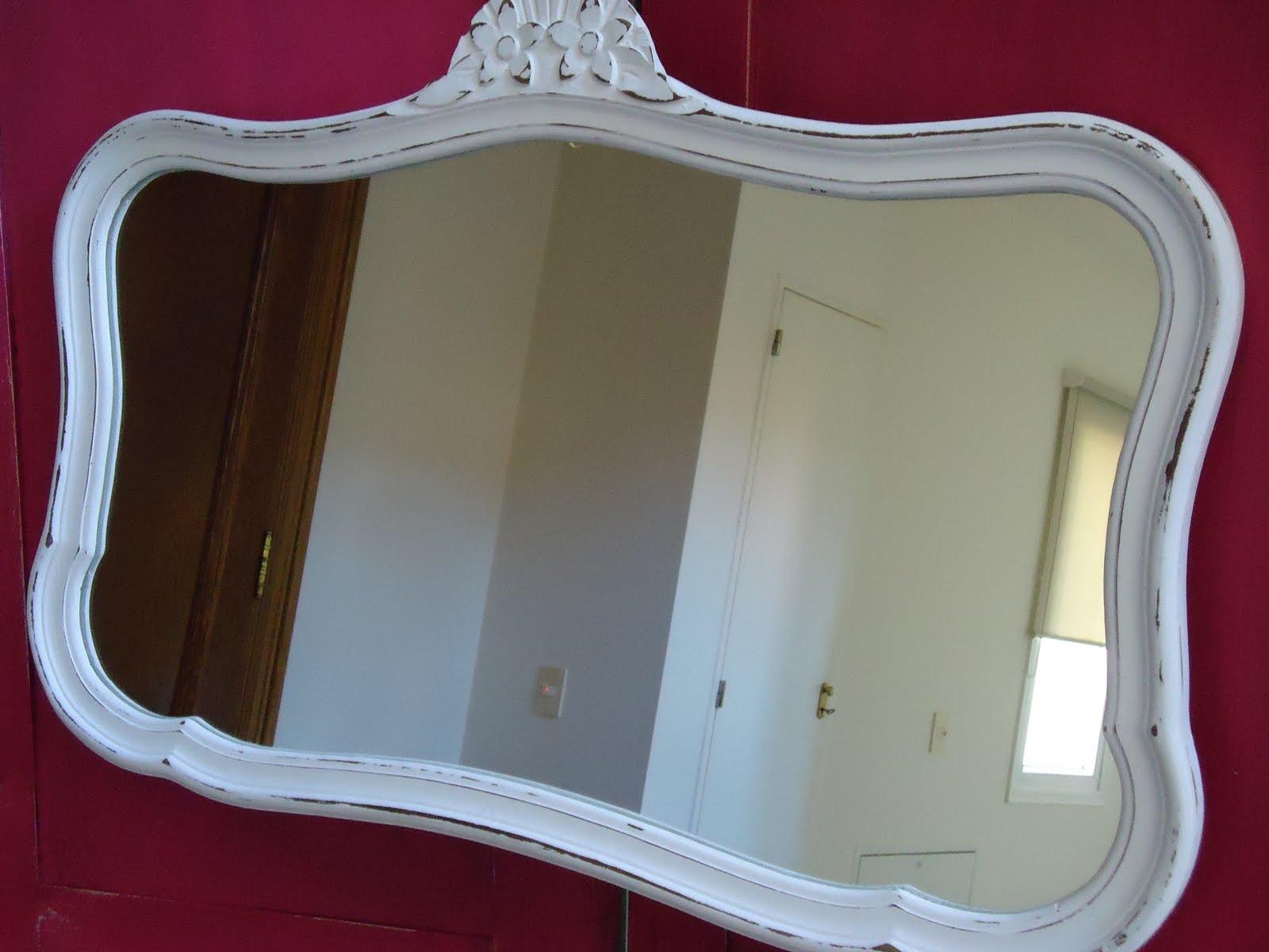 espejo provenzal francs blanco decapado