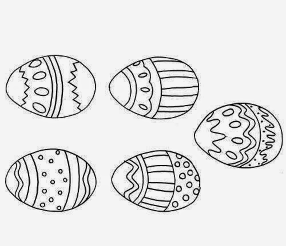 Beautiful Easter Eggs For Kid Coloring Drawing Free wallpaper