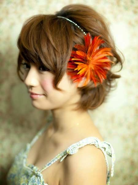 wedding hair flowers for short hairstyles. Black Bedroom Furniture Sets. Home Design Ideas