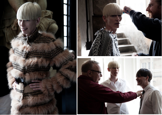 tilda swinton pringle. Tilda Swinton for Pringle of