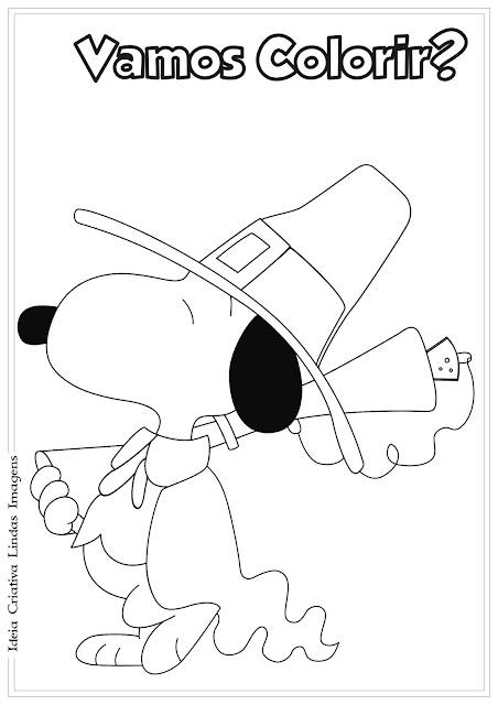 Desenho Snoopy Peanuts para colorir