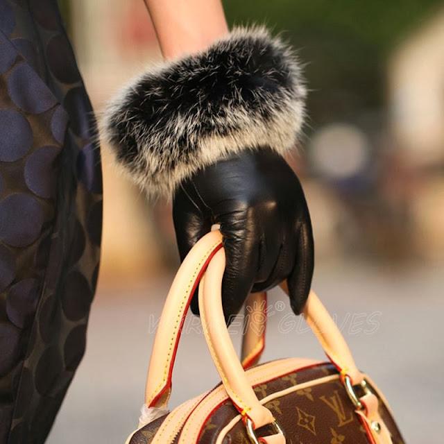 Genuine Sheepski Fashion Gloves(I LOVE IT)