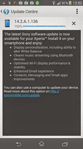 Sony Xperia Yellow Screen