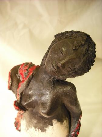 Mes sculptures RAKU Femme01
