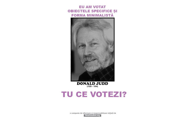 the art student vote campaign university of arts iasi art students initiatives donald judd