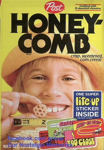 Post Cereal Box 70s 80s Honeycomb honey comb Hideout hide out
