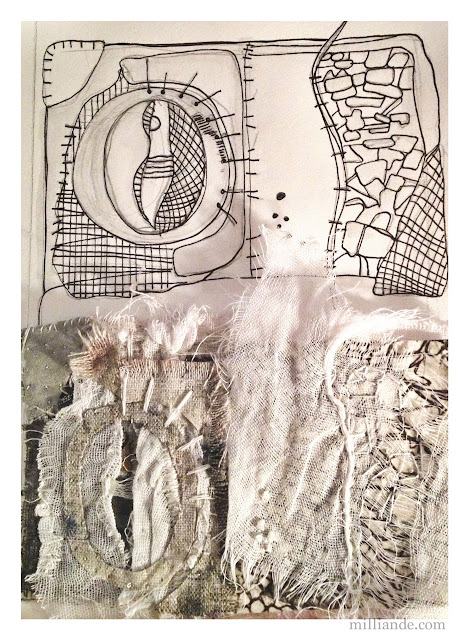From Stitch to Sketch - UnRuly Cloth & Canvas @ milliande.com CAPI Art Portfolio Experimentations