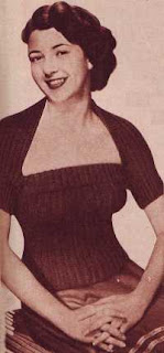 Free 1950's Knitting pattern for a womens Sunflower Tube Top & Bolero