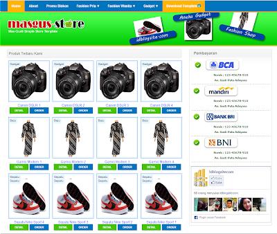 jasa promosi produk & jasa buat toko online termurah: template, Invoice examples