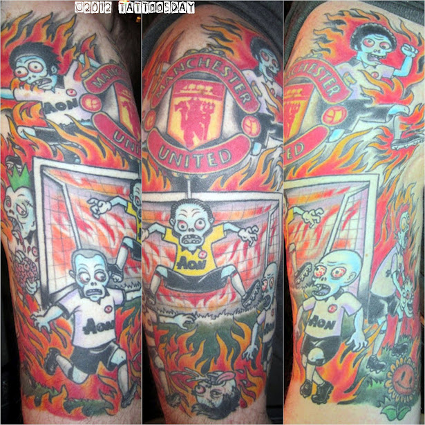 Football Sleeve Tattoos for Men