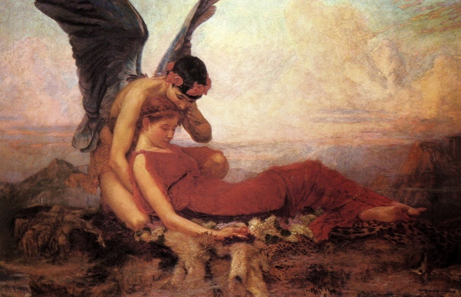 In the Arms of Morpheus Sir William Ernest Reynolds-Stephens, 1894 Private Collection, Image courtesy The Anathenum