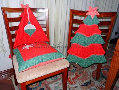 Decoração natal , Revista ateliê na TV, patchwork, apliquê, capas cadeiras, jogos americanos, almofadaas,