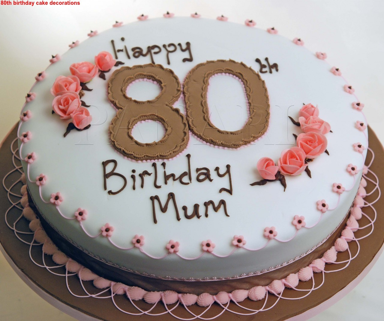 Cake Decorating 80th Birthday Ideas : Best 80th Birthday Cake Decorations 2015 - The Best Party Cake