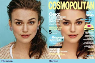 Keira Knightly maquiada com photoshop
