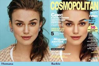 Keira Knightly maquiada com photoshop