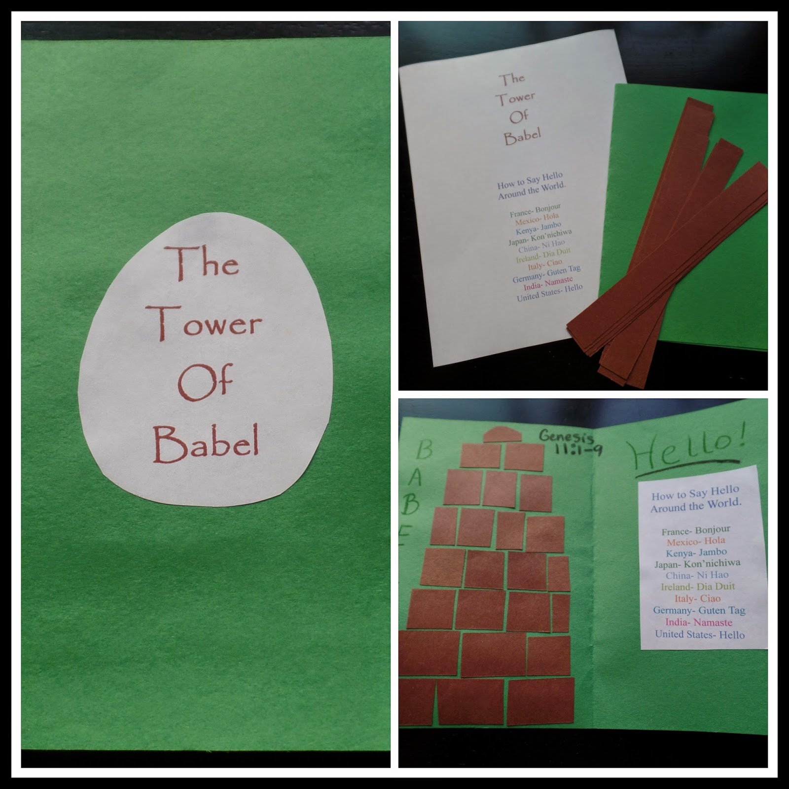 Fold A Sheet Of Colored Construction Paper In Half Using My Word Program I Printed Out The Title Which Pre Cut Also Provided Strips Brown