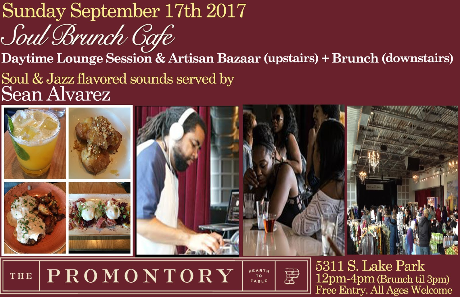 Sunday 9/17: Soul Brunch Cafe @ The Promontory
