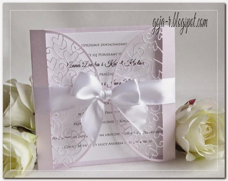 Goja Ażurkowe Zaproszenie ślubne