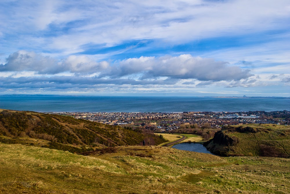 View and scenery from arthur's seat edinburgh