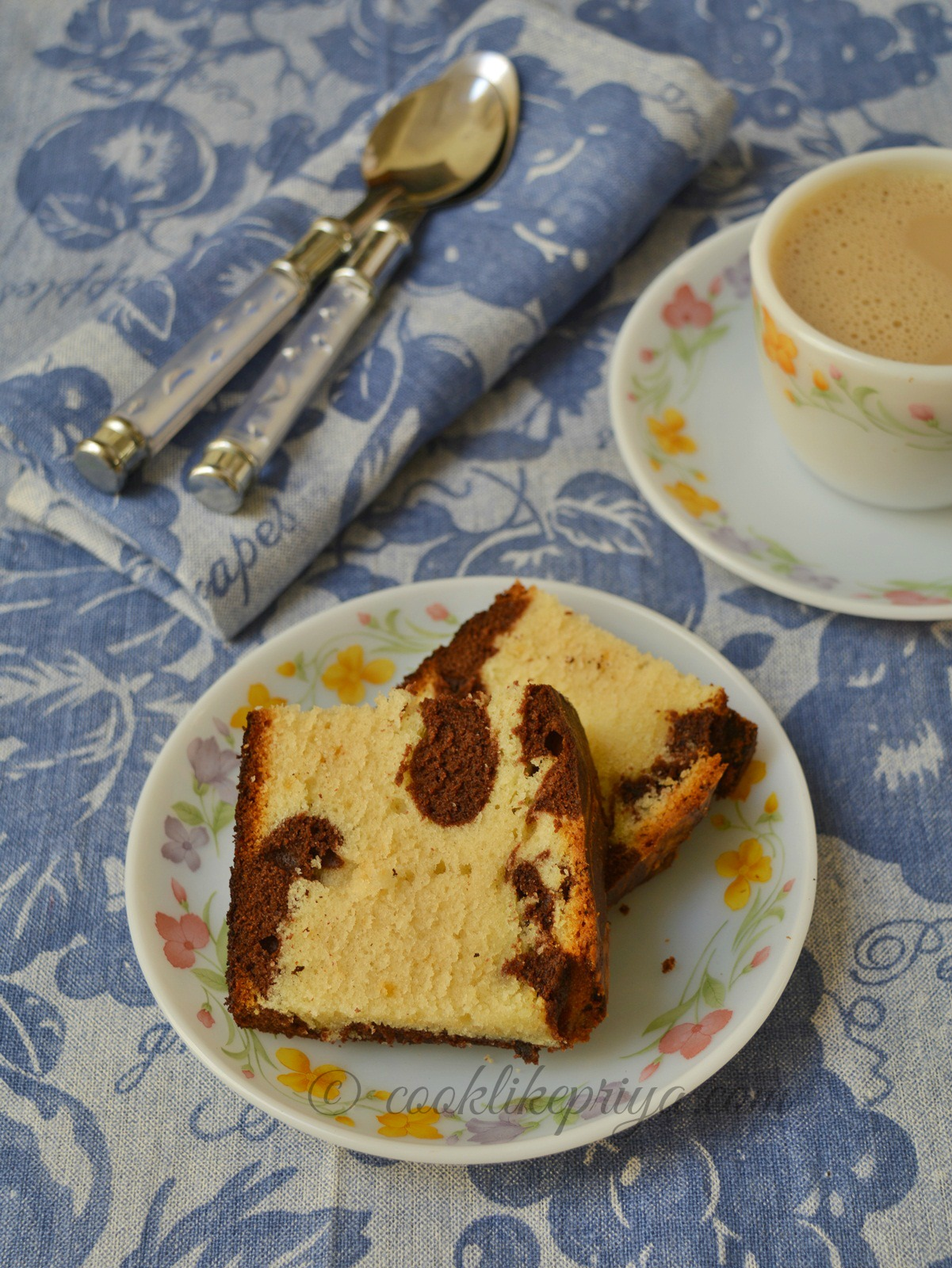 Butter Marble Cake Recipe