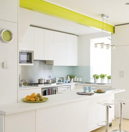 Cocinas en pequenos ambientes espacios reducidos diseno for Como amueblar una cocina