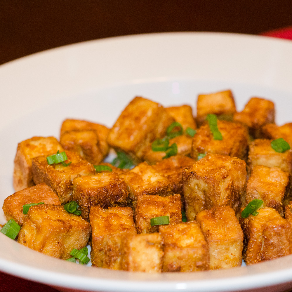 tofu with burning rings of fire crispy tofu triangles with asian ...