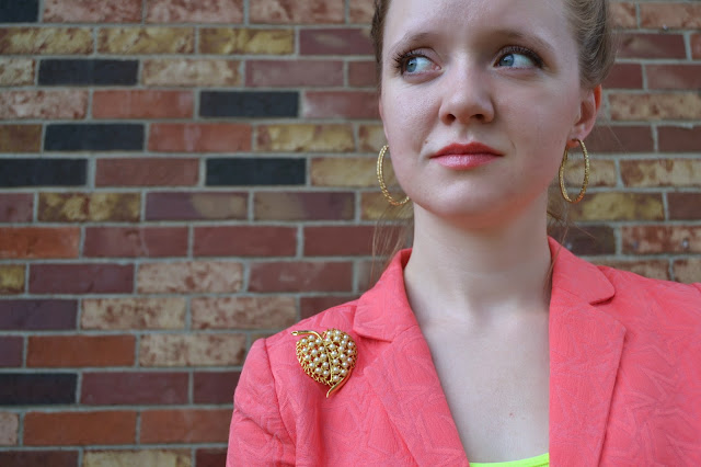 Flashback Summer: 1940s Does 1980s- modern/ vintage fusion/ suit/ neon