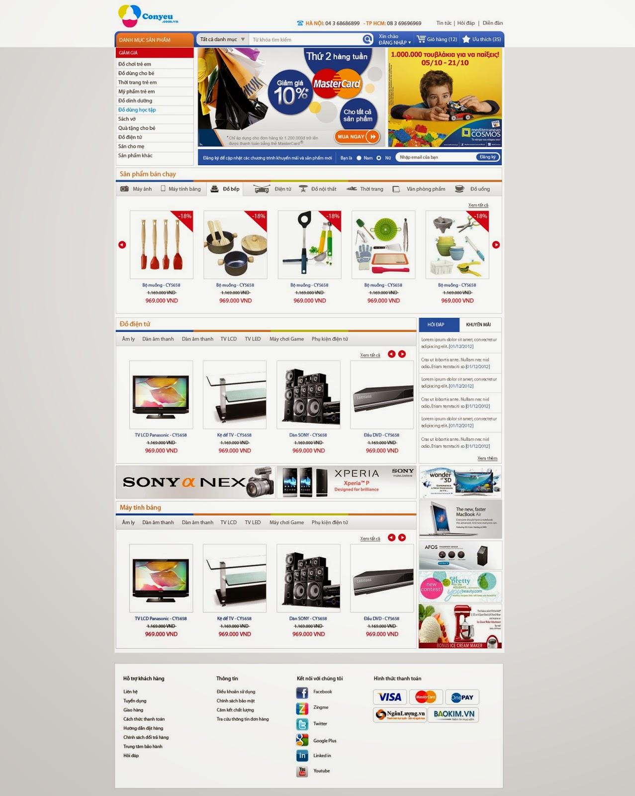 thiết kế web bán hàng cho bé giá rẻ
