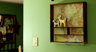 Upcycled map drawer shelf 3