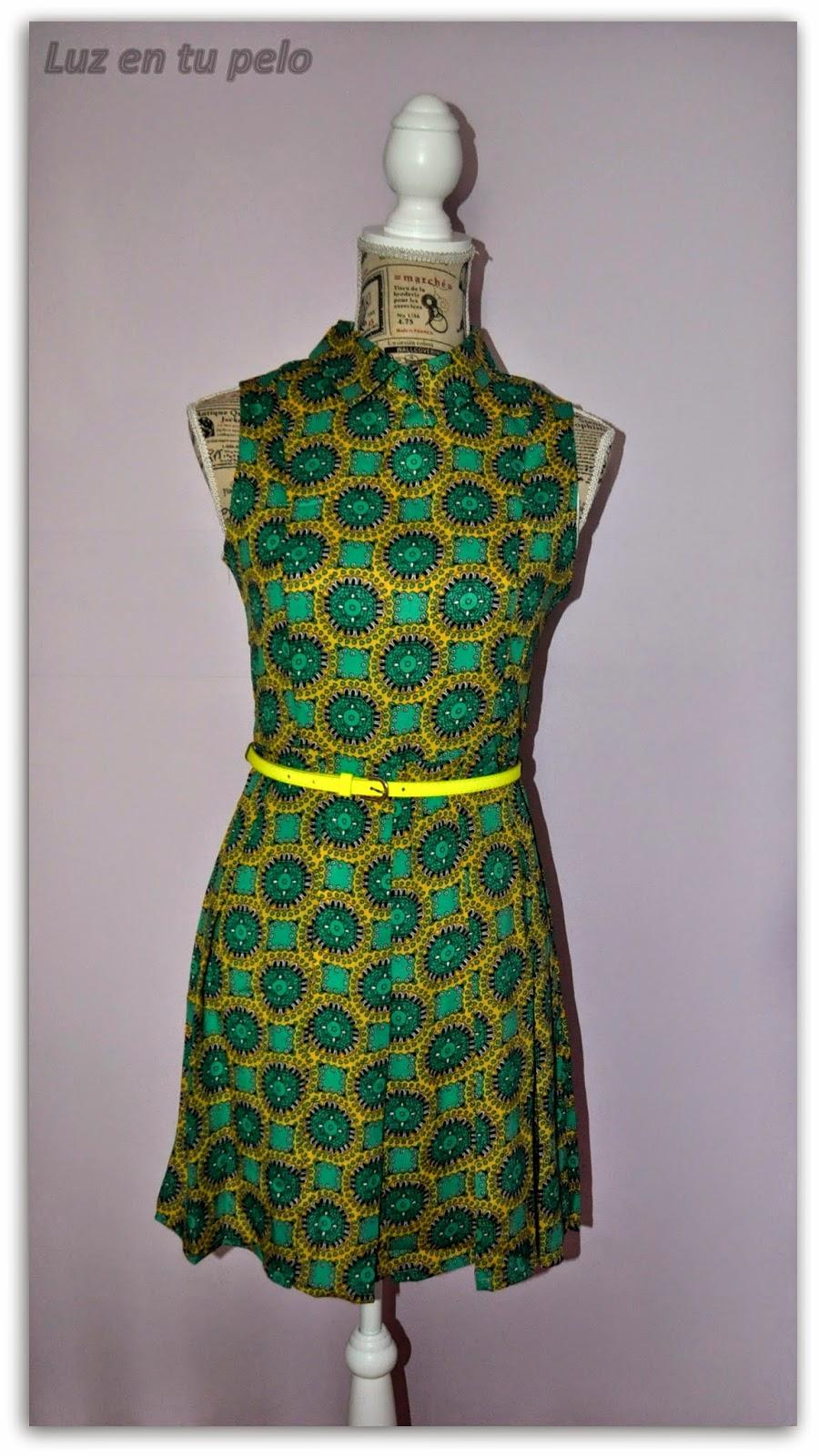 vestido vintage, vestido para bodas, vestido barato para bodas, vestido amarillo, vestido verde, vestido informal para bodas