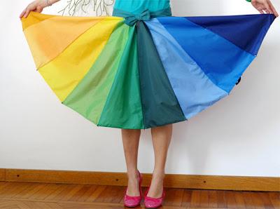 Recycled dresses umbrella