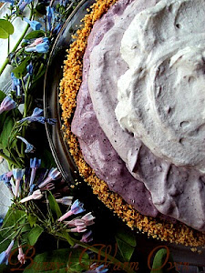 Blueberry Cream Chiffon Pie