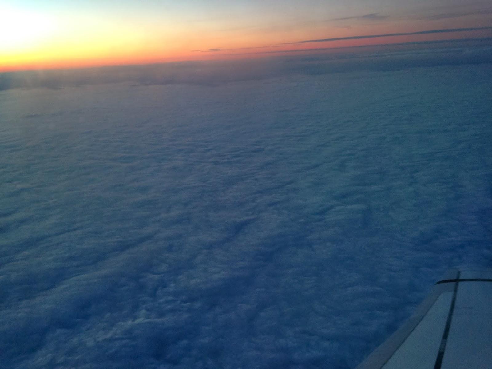 Небо из самолета
