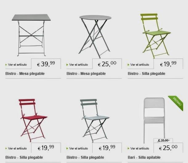 Maquilla tu casa mesas y sillas de terraza bistr for Sillas para maquillar