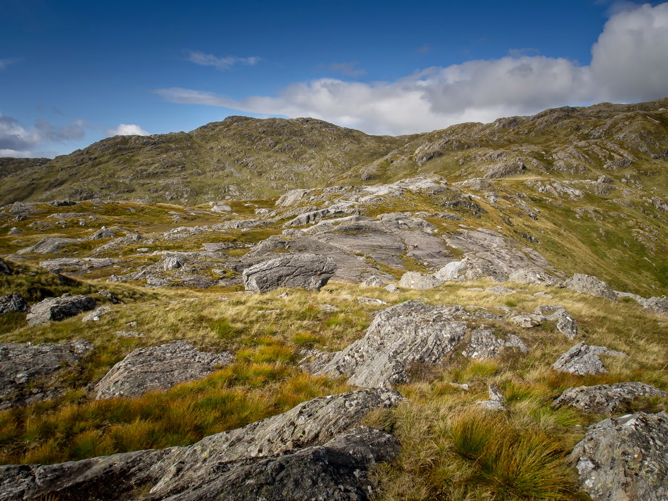 photo of the moon scape slopes of Sgurr an Utha, Lochaber