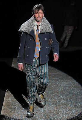 Andy Hulme Vivienne Westwoods gardener on catwalk