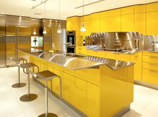 Cocina moderna color amarillo | Ideas para decorar, diseñar y ...