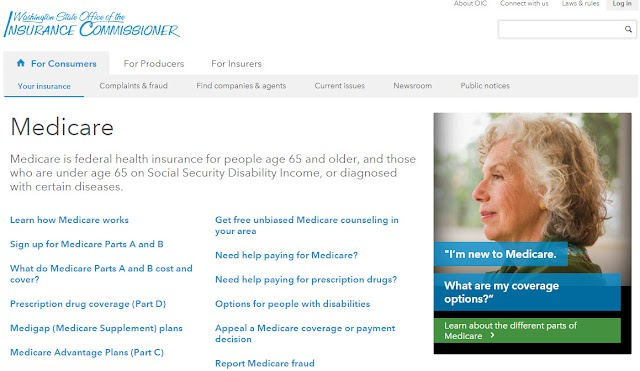 New Medicare pages on OIC's website, including new Advantage plans