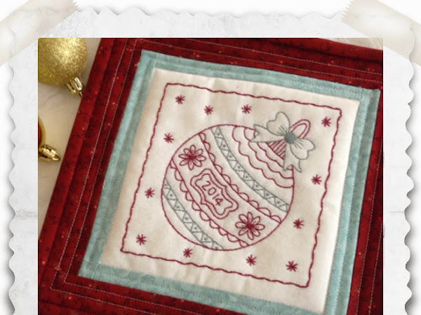 Christmas Bauble-Free Stitchery Pattern