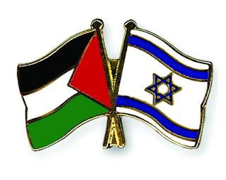 Palestine and Israel peace flag pins