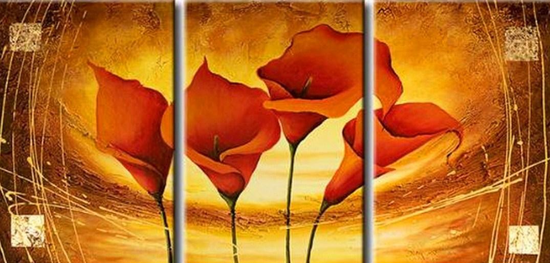 Im genes arte pinturas cuadros con flores modernos Cuadros rectangulares modernos