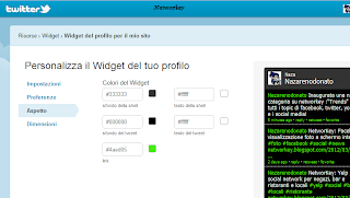 aggiungere widget al blog