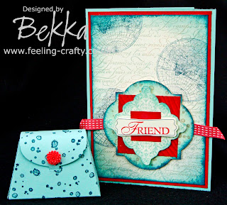 Stunning Card and Gift Box for a Friend by Stampin' Up! Demonstrator Bekka Prideaux - check out her blog for lots of fab projects