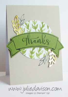 Stampin' Up! Paper Pumpkin October 2015 Blissful Bouquet alternative masculine card design #paperpumpkin www.juliedavison.com