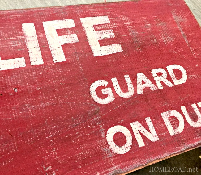 Lifeguard on Duty Sign www.homeroad.net